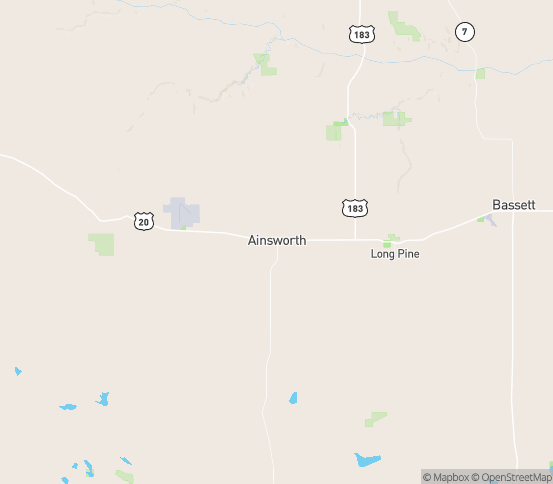 Map of Ainsworth, NE