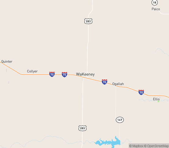 Map of Wa Keeney, KS