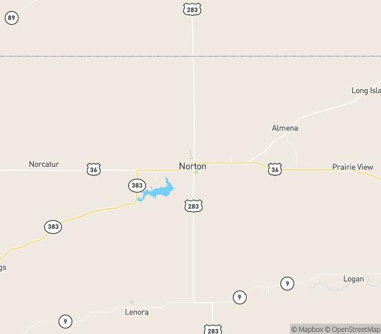 Map of Norton, KS