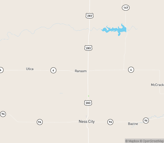 Map of Arnold, KS