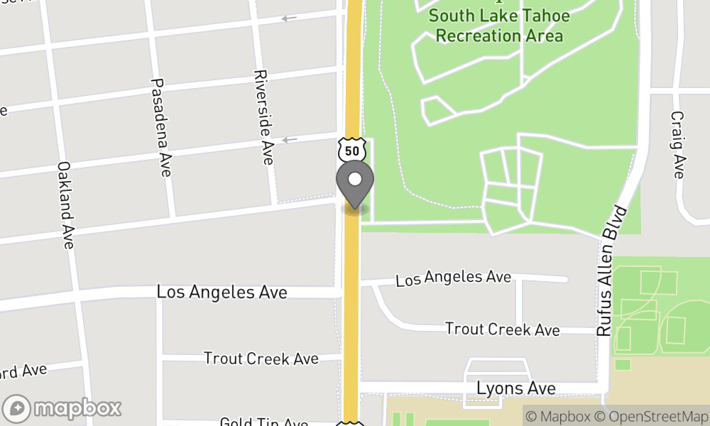 Map of South Lake Tahoe area