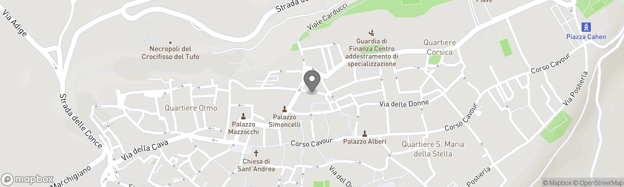 Map of Orvieto area