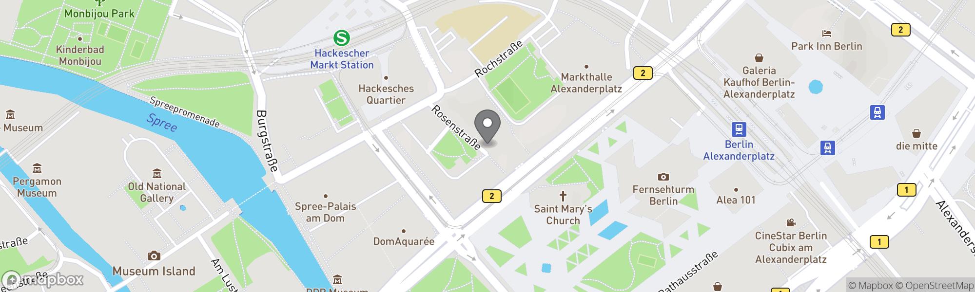 Map of Berlin area