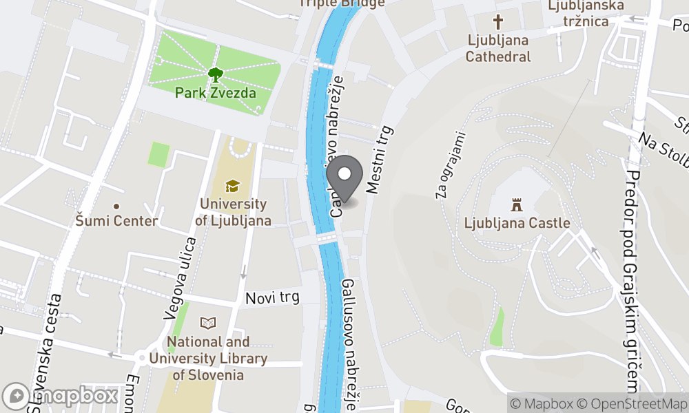 Map of Ljubljana area
