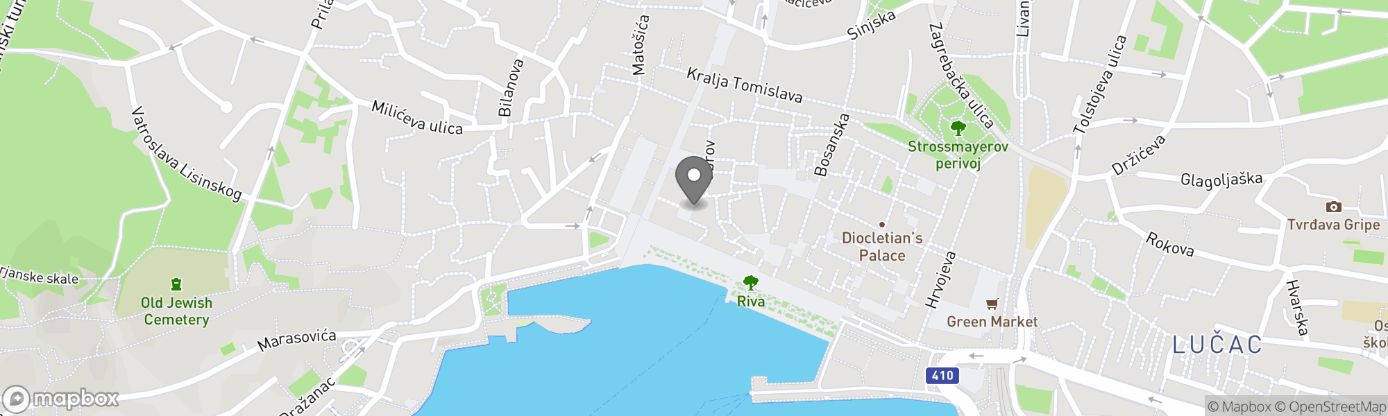Map of Split area