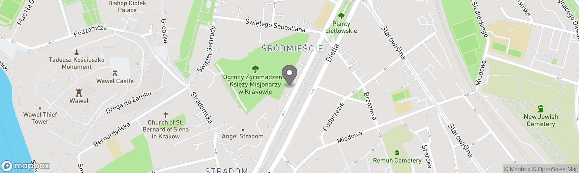Map of Krakow area