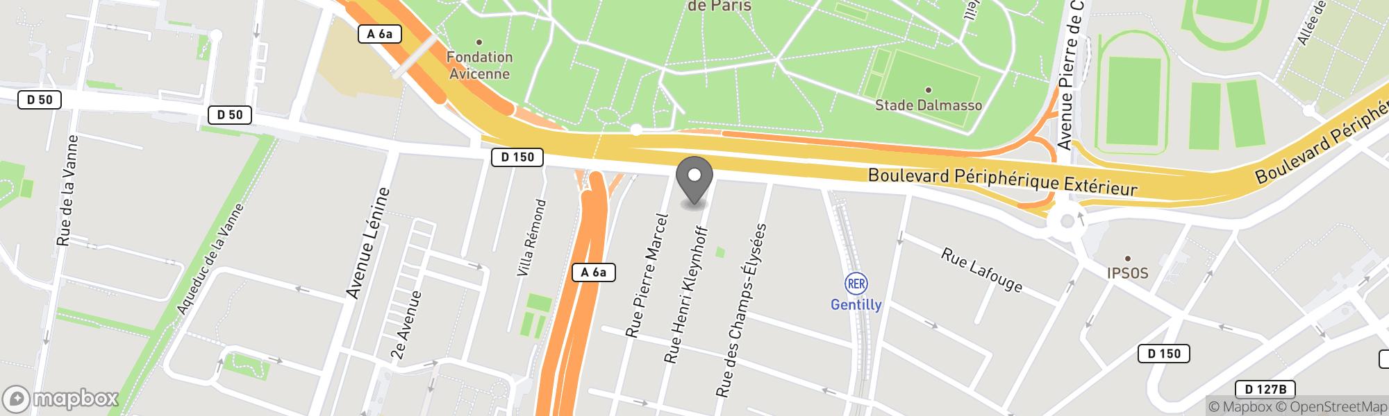 Map of Paris area
