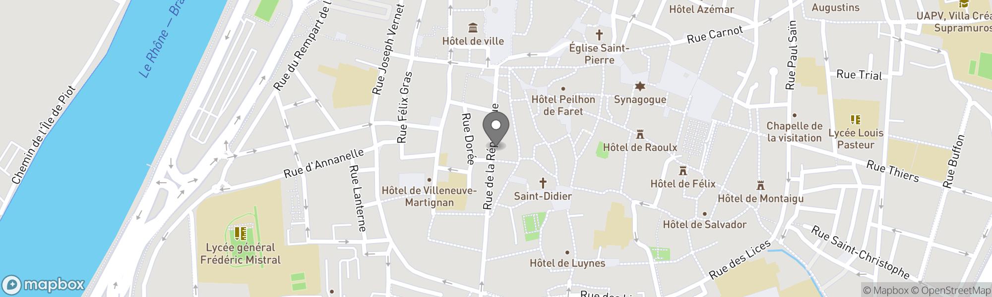 Map of Avignon area