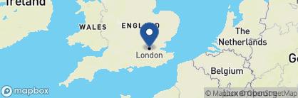 Map of Venice Simplon-Orient-Express, England