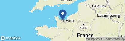 Map of Hotel Villa Lara, France