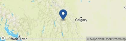 Map of Bugaboos Lodge, Canada
