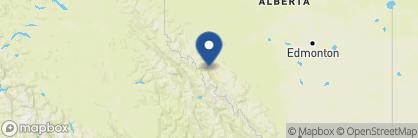 Map of Fairmont Jasper Park Lodge, Canada