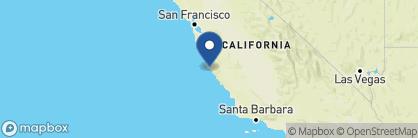Map of Post Ranch Inn, California