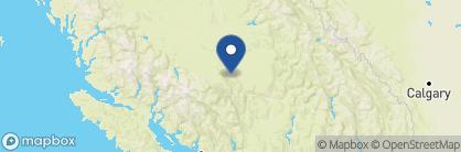Map of Echo Valley Ranch & Spa, Canada