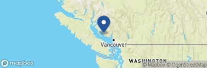 Map of Painted Boat Resort Spa & Marina, Canada