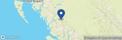 Map of Tweedsmuir Lodge, Canada