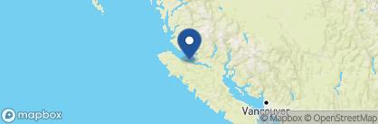 Map of Hidden Cove Lodge, Canada