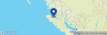 Map of Nimmo Bay Wilderness Resort, Canada