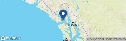 Map of Glacier Bay Lodge, Alaska