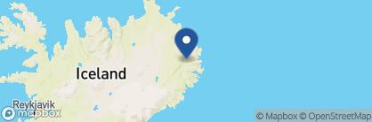 Map of Gistihúsið — Lake Hotel Egilsstaðir, Iceland