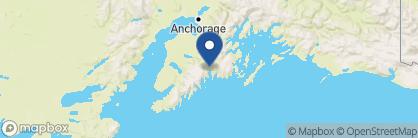 Map of Exit Glacier Lodge, Alaska