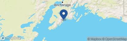 Map of Kenal Fjords Glacier Lodge, Alaska