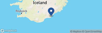 Map of Fosshotel Glacier Lagoon, Iceland