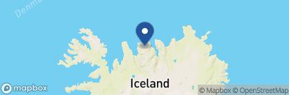Map of Deplar Farm, Iceland
