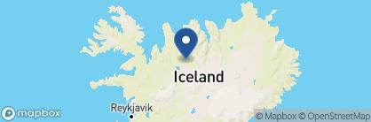 Map of Hestasport Cottages, Iceland