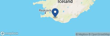 Map of Hotel Rangá, Iceland