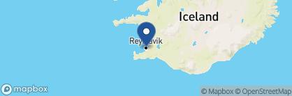 Map of Reykjavík Residence Hotel, Iceland