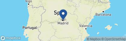 Map of Catalonia las Cortes, Spain