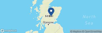 Map of Fonab Castle, Scotland