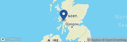 Map of Knipoch Hotel, Scotland
