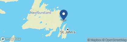 Map of Fishers' Loft Inn, Canada