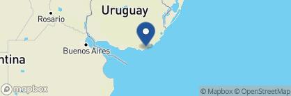 Map of Estancia Vik, Uruguay