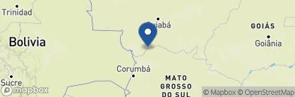 Map of Hotel Porto Jofre, Brazil