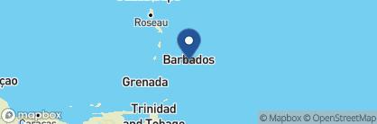 Map of Bougainvillea, Barbados
