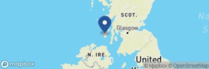 Map of Bridgend Hotel, Scotland