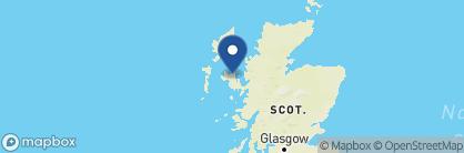 Map of Skeabost Hotel, Scotland