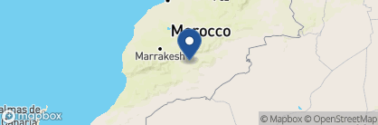Map of Kasbah Ait Ben Moro, Morocco