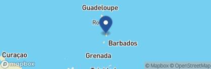Map of Ti Kaye Resort & Spa, Saint Lucia