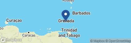 Map of Blue Horizons Garden Resort, Grenada