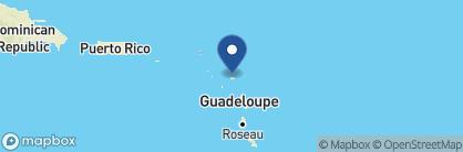 Map of Blue Waters Resort, Antigua