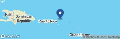 Map of Guana Island, British Virgin Islands