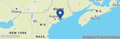 Map of Inn at Ocean's Edge, New England