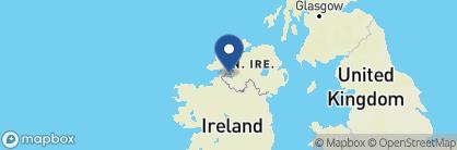 Map of Finn Lough Resort, Ireland