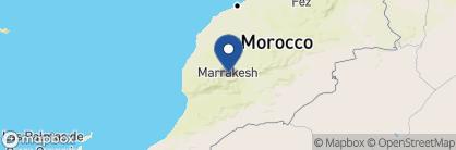 Map of Kasbah Tamadot, Morocco