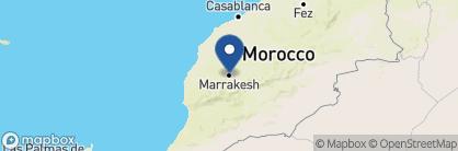 Map of La Sultana Marrakesh, Morocco