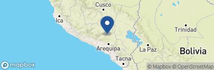 Map of Colca Lodge, Peru